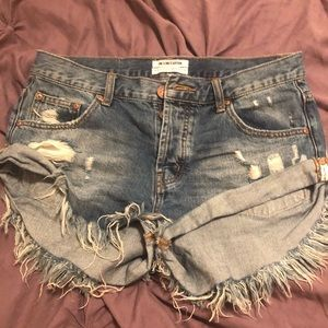 One Teaspoon Bandits shorts size 28 high waist